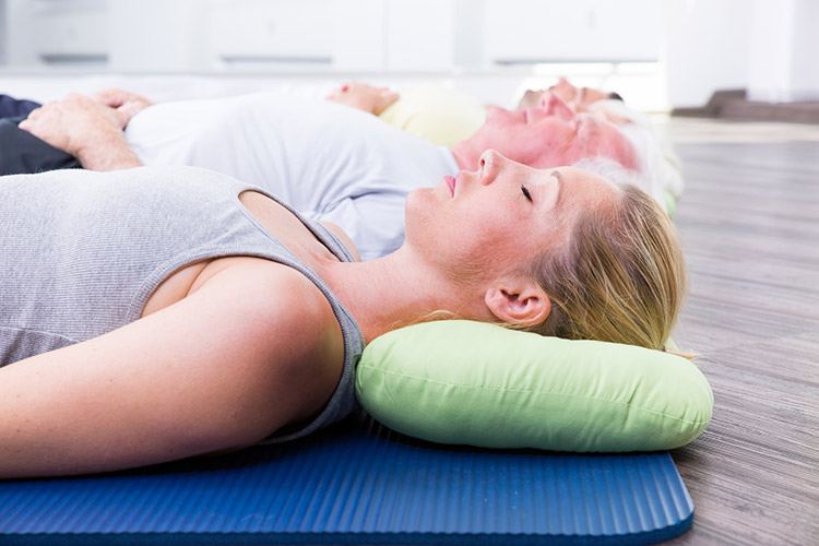 Entspannungskurse im Yoga-Studio